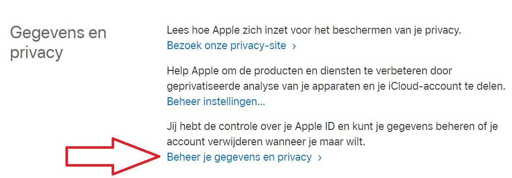 Gegevens en privacy iCloud