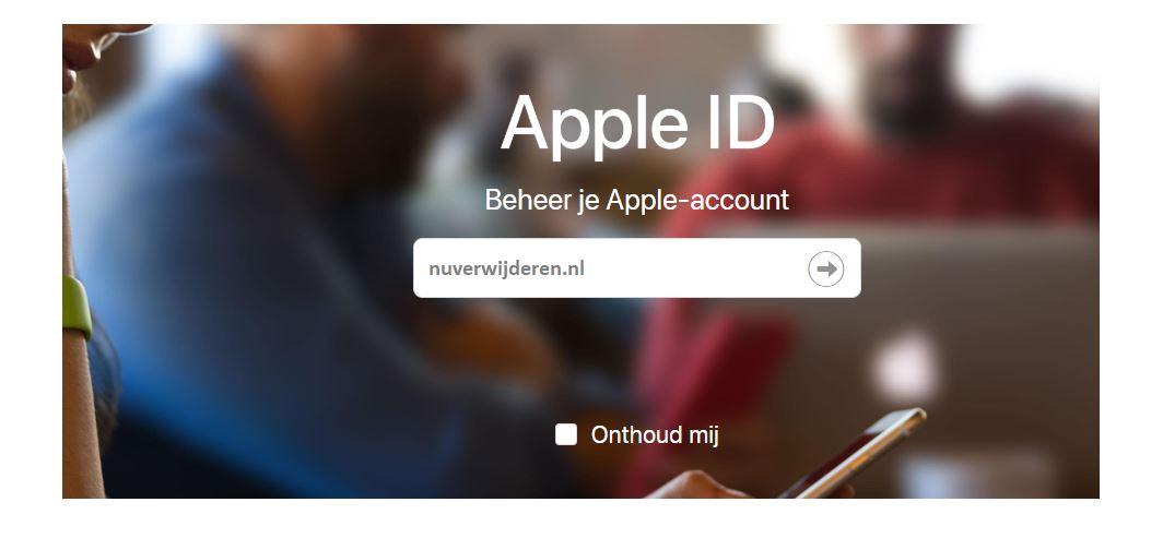 inloggen Apple ID
