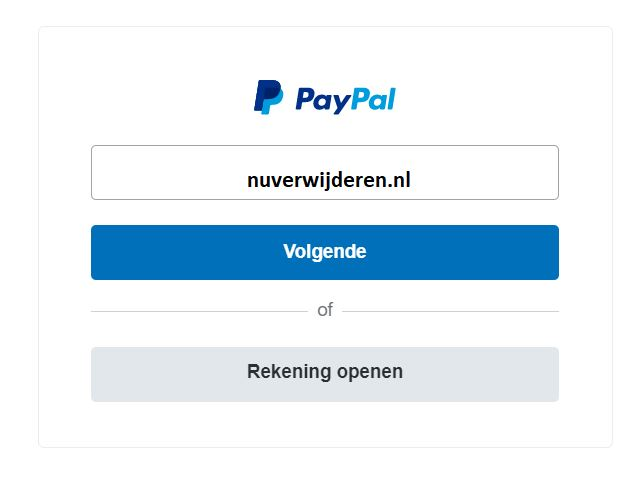 inloggen paypal