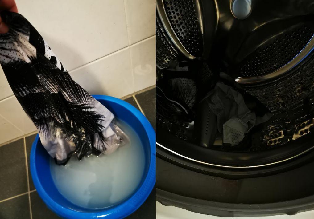 verfvlekken in de wasmachine